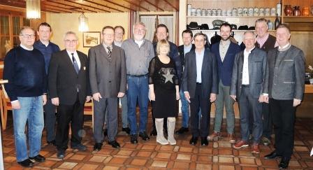 Vorstandschaft mit Bürgermeister Helmut Maier